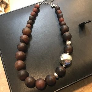 Silpada Graduated Wood Bead Necklace